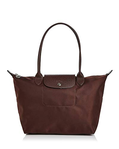 LongChamp Damen Schultertasche Le Pliage Chocolate Club Neo Medium