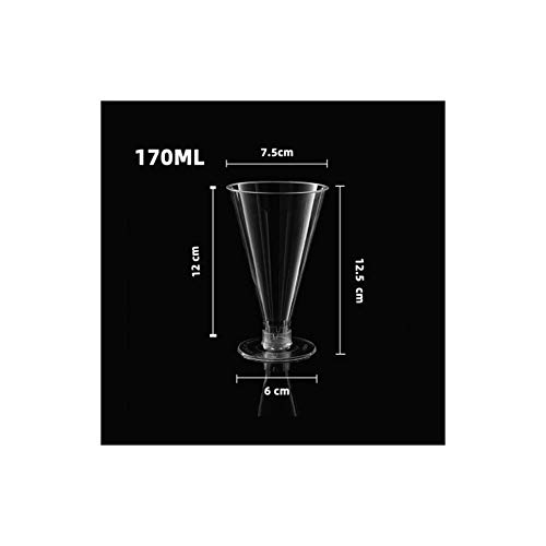 ZHAOJIANHUI 170ml*50 wegwerp wijnglas beker partij wegwerp beker hard plastic dikke champagne glas wijn
