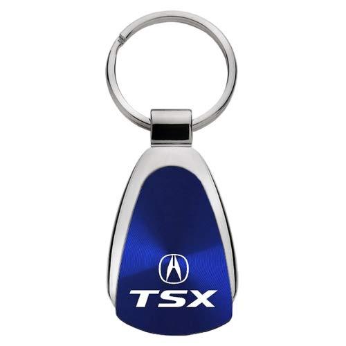 Keychain & Keyring with Acura TSX Logo - Blue Tear Drop