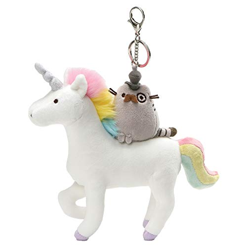 GUND Pusheen Fancy and Unicorn Magical Kitties Plush Deluxe Keychain Clip, Multicolor, 8.5'