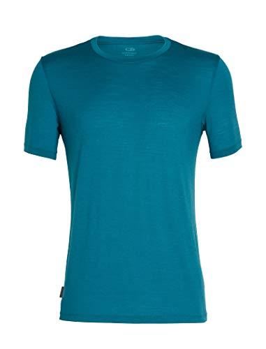 Icebreaker Herren Tech Lite Short Sleeve Crewe T-Shirt, Poseidon, L