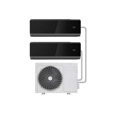 Multi-Split 18000 BTU Black SmartApp WiFi Inverter Wall Air Conditioner with Two 9000 BTU Indoor Units to a Single Outdoor