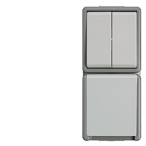 Bjc delta superficie - Base enchufe +interruptor doble delta ip44 con dispositivo