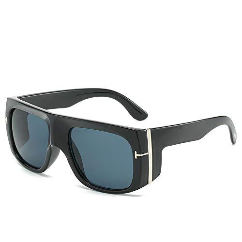 ShZyywrl Gafas De Sol Gafas De Sol Cuadradas De Gran Tamaño De Moda Steam Punk Eyewear Blackgray