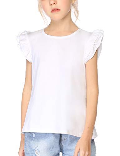 Arshiner Girls Solid White Cute Tan…