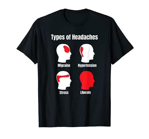 Kopfschmerz-Memo Lustige Rote-Area-Liberalien T-Shirt