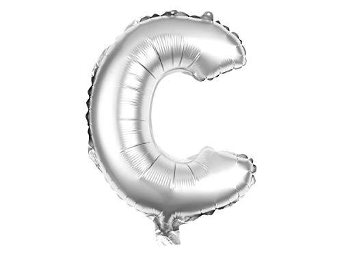 Alsino XXL Folienballons Luftballon Heliumballon Buchstabenballon A-Z Silber 80 cm Party Geburtstag Hochzeit, Variante wählen:BAL-198 Buchstabe C