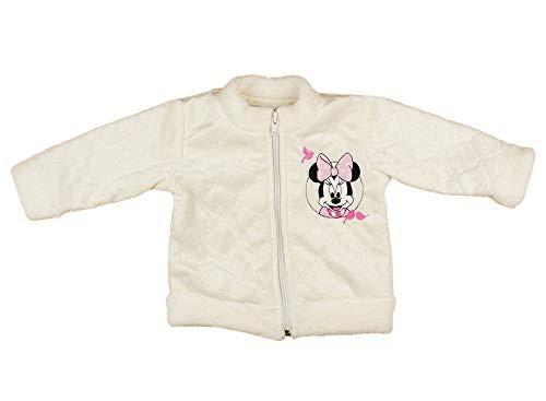 Mädchen Minnie Mouse Baby-Jacke/Kinder-Jacke, Winter-Jacke WARM, LANG-ARM, GRÖSSE 62, 68, 74, 80, 86, Disney Baby in weiß oder Rosa Reißverschluss Farbe Modell 2, Größe 74