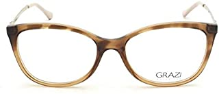85970ea67 Óculos de Grau Grazi Massafera GZ3033 F647 Tartaruga Degradê Lente Tam 51