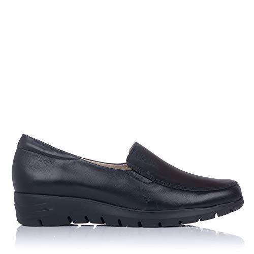 PITILLOS 2202 Zapato Mocasin Piel Mujer Negro 39