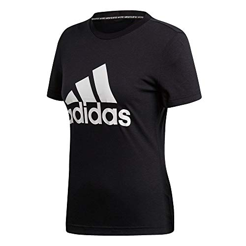 adidas Must Have Badge of Sport Camiseta, Mujer, Negro, XS