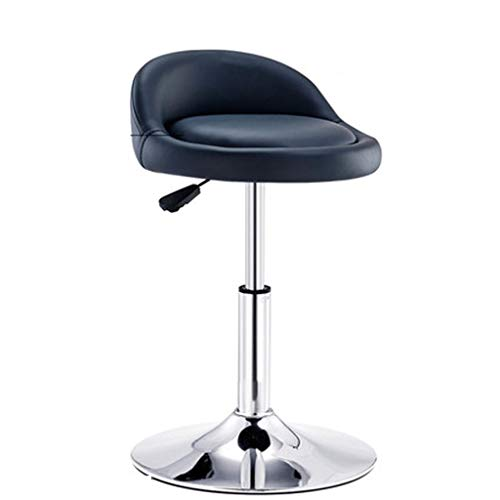 Tabouret de bar Élévateur de fauteuil rotatif Dossier Chaise Accueil Tabouret haut Tabouret rond (Couleur : Noir, taille : High(60-80cm))