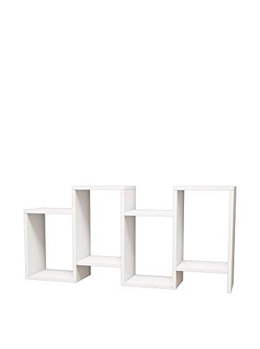 Homemania Libreria Hydra, Legno, Bianco, 116,4x22x53,5 cm