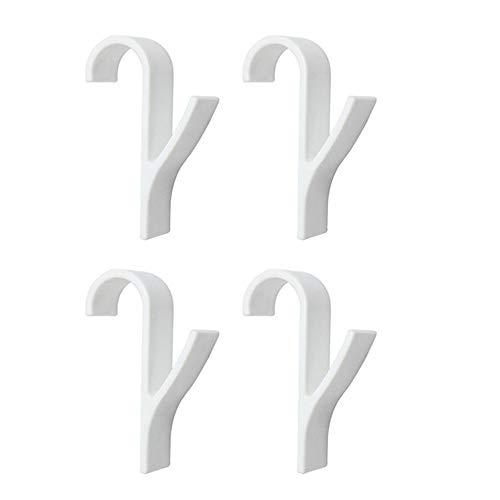 ZZXS Percha 4 Piezas Toallero para toallero eléctrico Radiador Radiador Radiador Baño Gancho Soporte de Soporte China Blanco
