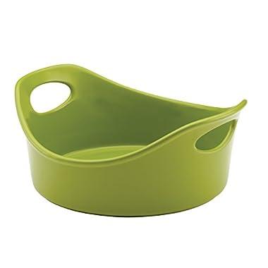 Rachael Ray Stoneware Round Baker, 1.5-Quart, Green