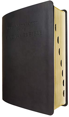 Proper Name Version of the King James Bible With Cross-References and Concordance Index, Large Print Overview and Study Edition