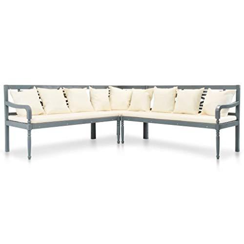 vidaXL Akazie Massiv Garten Ecksofa 3-TLG. Sofa Lounge Sitzgruppe Gartenmöbel
