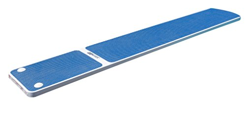 Diving Board, 8-Foot, Radiant White with Blue TrueTread
