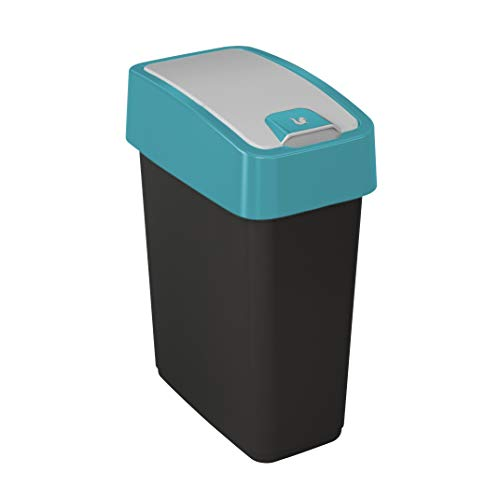 Preisvergleich Produktbild keeeper Premium Abfallbehälter mit Flip-Deckel,  Soft Touch,  10 l,  Magne,  Blau