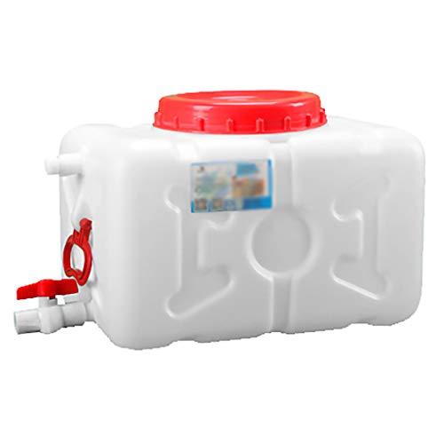 MORN Deposito Agua Blanca, Cubo de Plástico Grande de Grado Alimenticio para El Hogar, Contenedor de Almacenamiento de Agua Horizontal de Gran Capacidad, para Exteriores, Barbacoa, Viajes Remotos