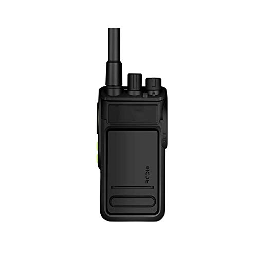 HDCDKKOU 10W de Gran Alcance walkie Talkie Radio CB Conjunto portátil de Mano 10 KM de Largo Alcance de Radio de Dos vías, lenguaje cifrado, el Polvo y Resistente al Agua (2 Piezas, Negro)
