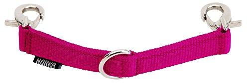 HORKA Kappzaum Leder Flexible Kette Abnehmbare Bit Pony COB Full longierarbeit Gegenstände, hot pink