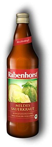 Sauerkrautsaft, mild, Rabenhorst, BIO, 750 ml