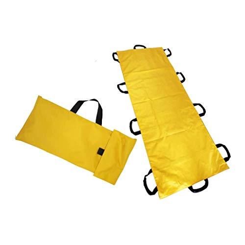 ZHFC Soft Stretcher Folding Erste-Hilfe-Krankentrage mit 10 Griffen Wasserdichter tragbarer Patient Mover Transport Rollentrage Disability Care - Gelb