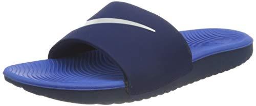 Nike Kawa Slide Sandal, Blue Void/Signal Blue-Pure Platinum, 31 EU