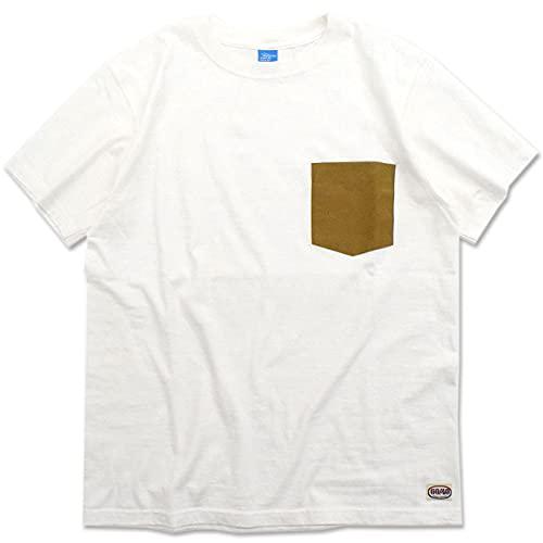[シエラデザインズ] Tシャツ 半袖 メンズ グッドオン ロクヨン ポケット サイズM ホワイト/タン