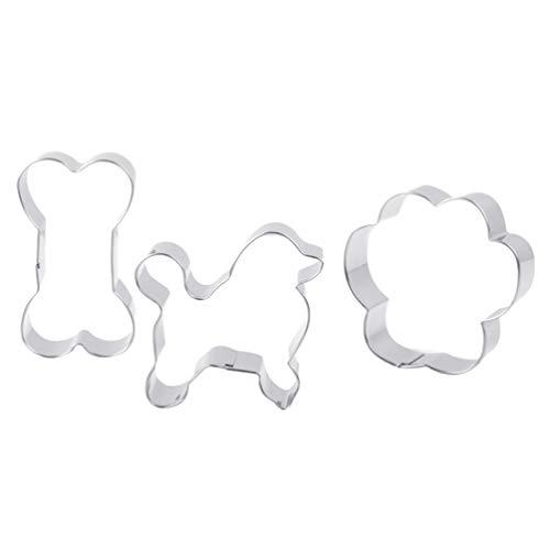 Hemoton 3 Pcs Emporte-Pièce en Acier Inoxydable Chien Emporte-Pièce Moule à Biscuits Bricolage pour La Cuisson