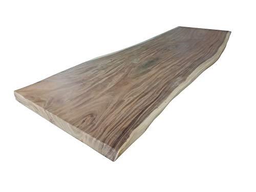 Sit Möbel Tops & Tables Tischplatte 250x90/100 cm Suarholz massiv, unbehandelt L = 250 x B = 95 x H = 8 cm Natur