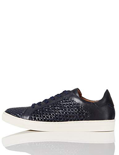find. Weave Leather Zapatillas, Azul Dark Blue, 37 EU