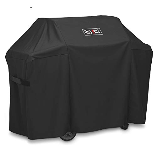 DallasCover 7130 Grill Cover Fits Weber Genesis II 3 Burner Grill and Genesis 300 Series Grills (Compared to 7130),58 x 44.5-Inch Heavy Duty Waterproof & Weather Resistant Outdoor Barbeque Grill Cover Covers Grill