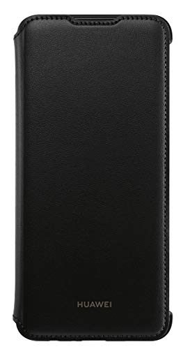 Huawei Pu Custodia Flip Cover per P Smart 2019 in Ecco Pelle, Nero