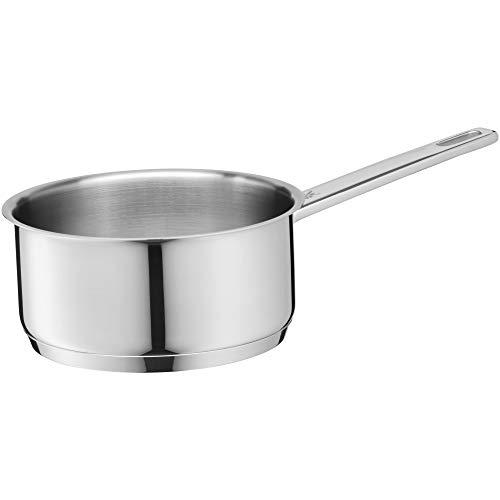 WMF Compact Cuisine Stielkasserolle 16 cm, ohne Deckel, Kochtopf 1,5l, Cromargan Edelstahl poliert, Innenskalierung, Topf Induktion, unbeschichtet