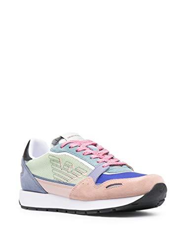 Emporio Armani Sneaker Donna con Logo (Multicolore, Numeric_40)