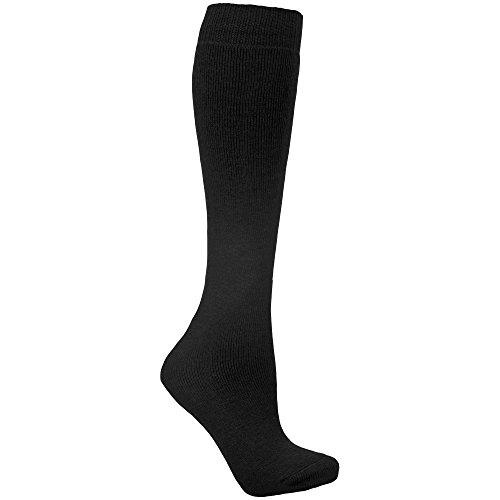 Trespass Unisex Ski-Socken mit Wollanteil (37-46 EU/4-11 UK) (Schwarz)