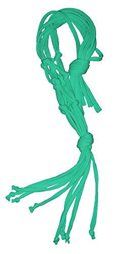 OneCode Handmade Blumenampel Wand Blumentöpfe zum Aufhängen Pflanzenhalter Baumwolle Aufhänge Seil, 2 Längen Türkis 80cm Länge