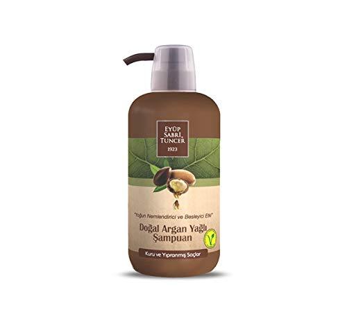 Champú Eyüp Sabririİ Tuncer 1923 natural de aceite de argán vegano, 600 ml (para cabello seco y dañado) – Botella para mascotas