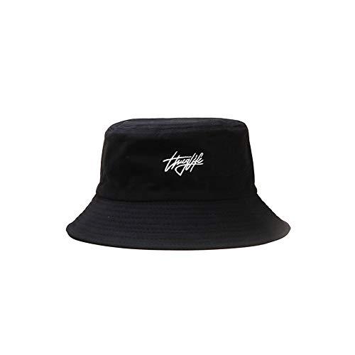 Lanly Sombrero de pescador para el sol, unisex, 100 % algod