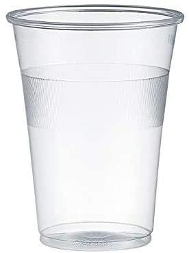 Gastro-Bedarf-Gutheil 100 Trinkbecher, Plastikbecher 0,3 l Transparent mit Füllstrich Bierbecher