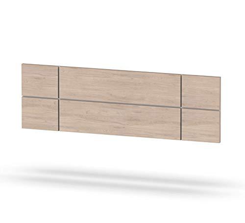 Muebles Pitarch Elsa Cabecero, Aglomerado de partículas y melanina de Alta Densidad, Aurora/Fondo Blanco, 50 x 160 x 3.2 cm
