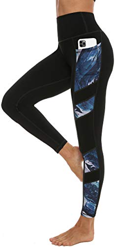 Persit Sporthose Damen, Yoga Leggings Laufhose Yogahose Sport Leggins Tights für Damen,Schwarz 01,42-44 (Herstellergröße L)