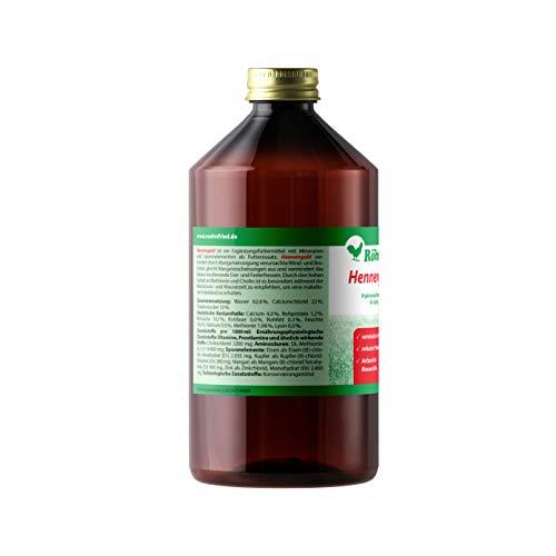 Röhnfried Hennengold Nahrungsergänzung (1000 ml) mit Mineralien & Calcium für Hühner, Trinkwasserzusatz gegen Brucheier & zur Mauserhilfe, Aufzuchtfutter - 2