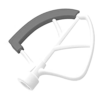 6 Quart Flex Edge Beater for KitchenAid Bowl-lift Stand Mixer Metal Flat Beater with Flexible Silicone Edges Bowl Scraper 6QT Mixers Paddle Replacement for KitchenAid Mixer Accessories/Attachments