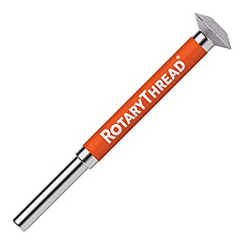 ROTARY THREAD - Thread Repair File  Chase Restore Repair and Clean  Male Female Inch Metric and Pipe Threads  RT1   3/8  Dia Head x 2  Length x 1/8  Arbor
