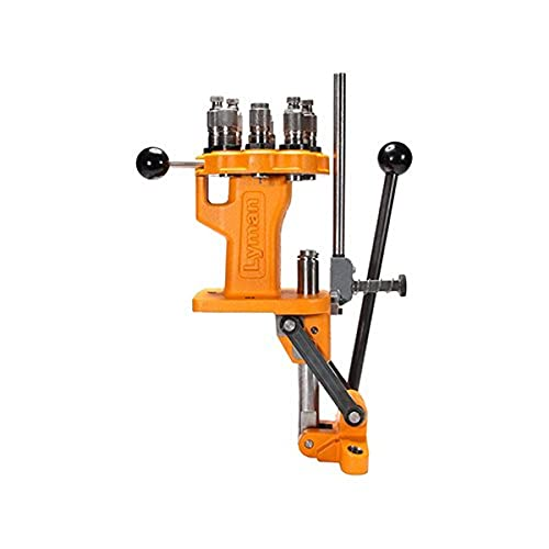 Lyman All American 8 Turret Press for Reloading orange, silver, One Size