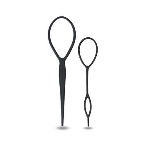 2PCS Cheveux Braid Accessoires Ponytail Styling Maker Français Clip Braid Magic Tool Topsy Tail Boucle Kit Cheveux Pour Les Filles Des Femmes