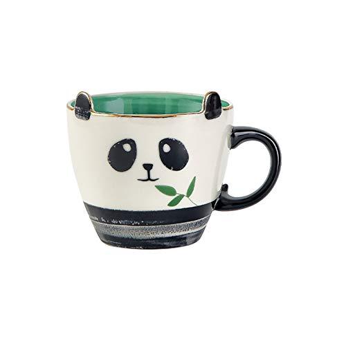 HCYSNG Taza de Animal Creativa Taza de Agua de Dibujos Animados Dibujados a Mano Taza de café de Oficina en casa Taza de cerámica de té Anovel y Regalos interesantes (Color : Panda Cup)
